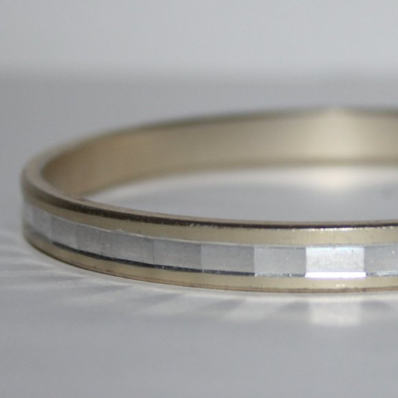 Vintage Jewelry - Silver and gold W Germany Bangle bracelet